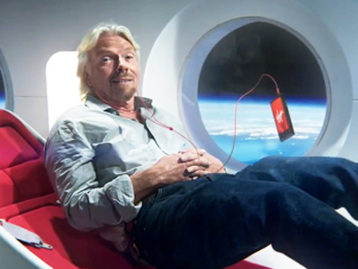 Richard Branson Virgin in Space