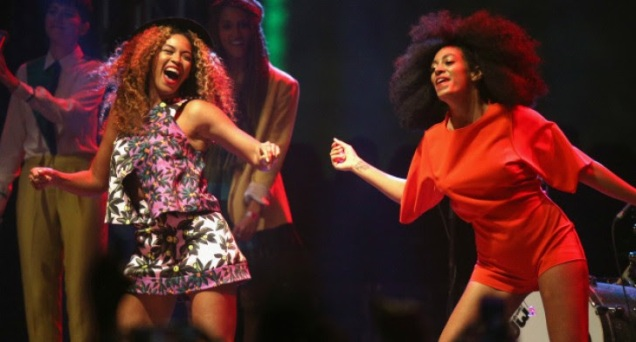 beyonce and solange at coachella 2014